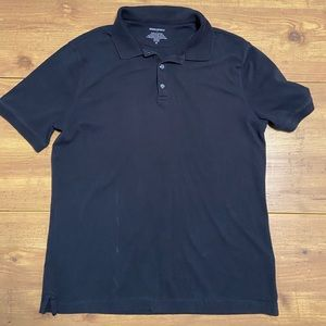 Black Short Sleeved Polo